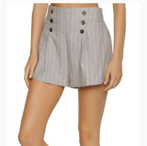 Vertical Stripped Sailor Shorts